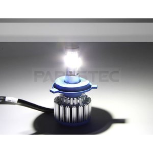 H4 LEDヘッドライト 車検対応 COBChip Hi/Lo切替 80W 8000LM 6500K ホワイト 2個1セット 10系アルファード 200系ハイエース など|partstec