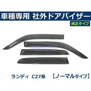 「両面テープ&金具付」ランディ SC27 サイドバイザー ドアバイザー 社外品 新品 スモーク 取付金具一式・取付説明書付き|partstec