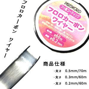 フロロカーボン ワイヤー 0.500mm (70m巻き) /メール便送料無料/ハンドメイド|partsworldjp
