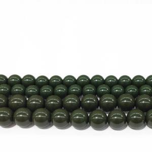 (卸価格)(1粒売り)ビーズ 北投石 緑 グリーン 丸 手研磨 10mm(±1mm)玉 1個|partsworldjp