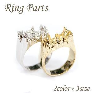 (高級鍍金) リングパーツ (1.リング 2色) 1個売り 金属レジン フラワーアクセサリーパーツ 指輪 パーツ オリジナル|partsworldjp