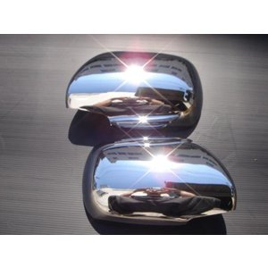クロームメッキドアミラーカバー プラド120系/ハイラックスサーフ210系215系/ハイエース200系/レジアスエース200系