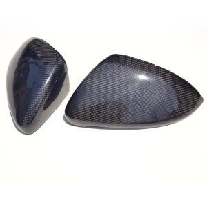 フォルクスワーゲン ゴルフ7 リアルブラックカーボン ドアミラーカバー 交換式 高品質