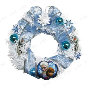 ディズニー 玄関 クリスマスパーティー 雑貨 装飾 アナと雪の女王 ミニリース 20cm party-honpo