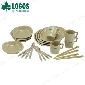 LOGOS(ロゴス) 箸付きディナーセット4人用 キャンプ用品 食器 テーブル プレート 皿 アウトドア用品 BBQ|party-honpo