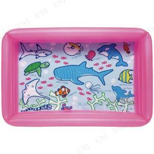 すいぞくかんプール 角型 ピンク 100×65cm 海水浴 ...