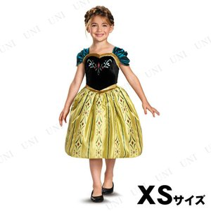06c13946e20af アナと雪の女王 アナ 戴冠式ドレス クラシック 女の子用 XS(3T-4T) コスプレ 衣装 ハロウィン 仮装 子供