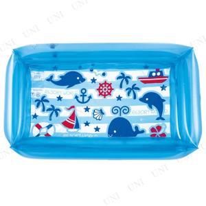 四角プール 100×60cm マリンブルー ビニールプール 小さい 子供用 プール用品 ビーチグッズ 海水浴 水物
