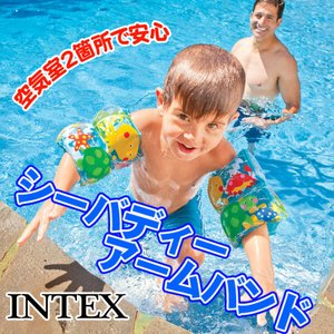 INTEX社製のかわいくオシャレなアームバンドです。空気室2箇所で安心。様々な場面でご使用いただけま...
