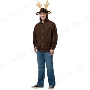 トナカイ コスプレ 仮装 メンズ クリスマス 動物 アニマル トナカイ フードパーカー M|party-honpo