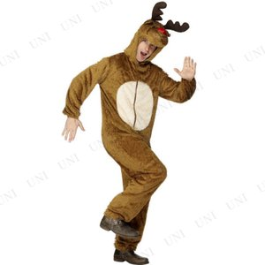 トナカイ コスプレ トナカイコスチューム 大人用 M 仮装 衣装 クリスマス メンズ 爆笑|party-honpo