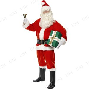 サンタ コスプレ 仮装 衣装 メンズ クリスマス サンタクロース DXサンタ 大人用 M|party-honpo
