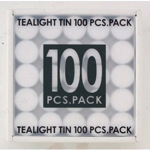 キャンドル ろうそく パーティーグッズ 雑貨 装飾 カップ ティーライトティン100個入