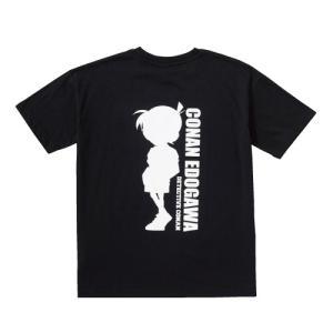 [生活応援セール]レディース 名探偵コナン ポケット付きバックシルエットTシャツ コナン君/赤井秀一...