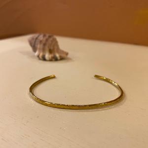 BrassBangle 真鍮バングル ゴールドカラー アンティークスタイル /バンピー2ミリ|partyon