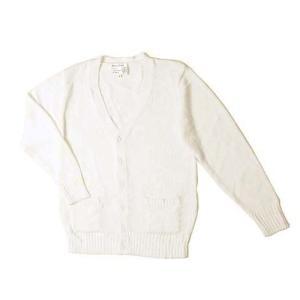 制服 スクール 「カーディガン ホワイト LL」 白 レディース 大きいサイズ なんちゃって制服|partyparadise