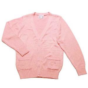 制服 スクール 「カーディガン ピンク LL」 レディース 大きいサイズ なんちゃって制服|partyparadise