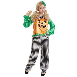 「スタースマイルパンプキン」仮装 コスチューム コスプレ かぼちゃ ピエロ レディース ハロウィン|partyparadise
