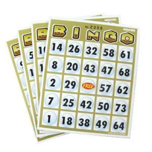 ビンゴ カード 台紙 「ビンゴカード50(50枚入)」 イベントパーティーゲーム|partyparadise