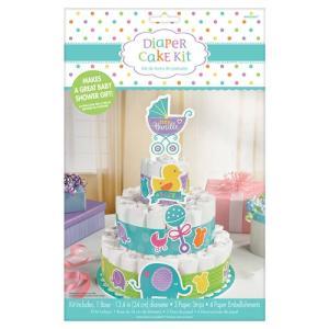 おむつケーキの飾りセット♪ 「ダイパーケーキキット ベビーシャワー」出産祝い 出産前のお祝い パーティー デコレーション|partyparadise