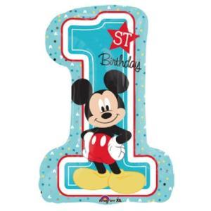 キャラクター風船「LSHP ミッキーマウス 1stバースデー H71cm」ディズニー ファーストバースデー バルーン グッズ 雑貨 1歳の誕生日 飾りつけ 装飾 男の子|partyparadise