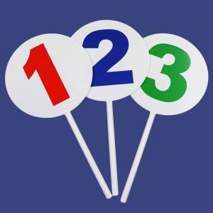 クイズ大会 宴会 忘年会 余興 ゲーム 「BIG123プレート」 盛り上げグッズ|partyparadise