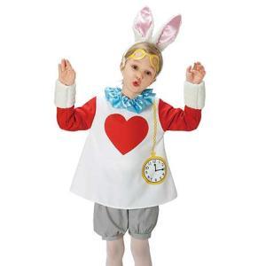ハロウィン 衣装 子供 「チャイルドホワイト ラビット S」 不思議の国のアリス風 ディズニー キッズ コスプレ コスチューム 仮装|partyparadise
