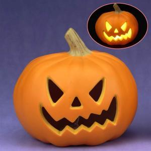 パンプキン かぼちゃ ランタン 「NEWパンプキンランタン S (A)」 ジャックオランタン ハロウィン 飾り かぼちゃ 装飾 置物|partyparadise
