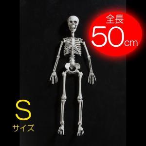 ハロウィン 装飾 飾りつけ 「H48cm ディスプレイガイコツくん:S」デコレーション 店舗 室内 空間演出 人体骨格型 置物 人形 がいこつ スカル スケルトン partyparadise