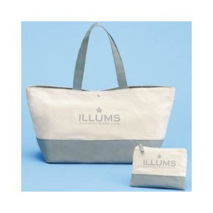 dd9c19c0a777 ILLUMS イルムス ポーチ&トートバッグセット SET-ILL160011GR(割引不可、取り寄せ品キャンセル返品不可)