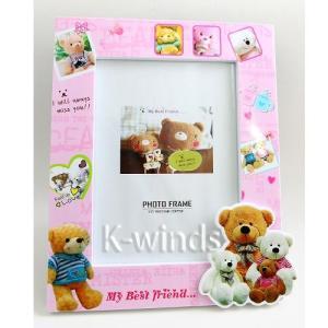 クマのフォトフレームA ピンク(納期未定)(割引サービス対象外)(お取り寄せ品、返品キャンセル不可品)写真 飾る インテリア 雑貨 グッズ クマのフォト|parusu