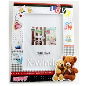 クマのフォトフレームD ホワイト(納期未定)(割引サービス対象外)(お取り寄せ品、返品キャンセル不可品)写真 飾る インテリア 雑貨 グッズ クマのフォ|parusu