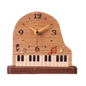 大感謝価格『寄木細工 グランドピアノ置時計 PE002』(メーカー直送品。代引不可・同梱不可・返品キャンセル・割引不可)クロック 置き型 木目 インテリア 飾る|parusu