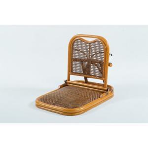 【メーカー直送・大感謝価格】ラタン畳座椅子 GNM01 W46×D60〜70×H50cm 座面高7cm 籐100%|parusu
