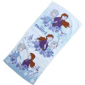 ◆選べる3P¥1,110対象商品◆丸眞 2035036300 フェイスタオル アナと雪の女王2 34×75cm 冬の花束|pas-a-pas