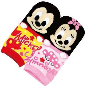 選べる3P¥1,110対象商品/MMS0109/ジェイズプランニング/【Disney/ミッキー&ミニーペア】キャラクター耳付ソックス「キッズサイズ:約13〜18cm」|pas-a-pas