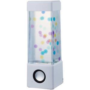 18149/イシグロ/[AQUA LAMP]ミニアクアランプ(スピーカー付き/ホワイト)/インテリア/スマートフォン/音楽/玩具/TOY/ギフト/プレゼント pas-a-pas