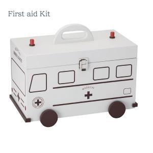 【お取り寄せ】イシグロ 60057 デザイン小物 W35×D20.3×H27.5cm 救急箱 救急車 ホワイト 装飾 インテリア 収納|pas-a-pas