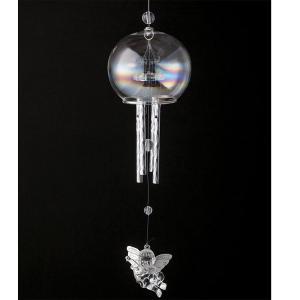 【お取り寄せ】エンジェルガラスドーム 16128 イシグロ 装飾 インテリア 音 風鈴 癒し リラクゼーション|pas-a-pas