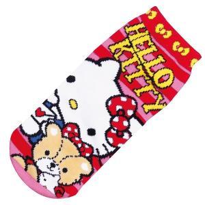 選べる3P¥1,110対象商品/ZZS366/ジェイズ/キャラクターソックス(くつした女性用22〜24cm) 「Sanrio(サンリオ)/キティフレンドリボン」靴下|pas-a-pas