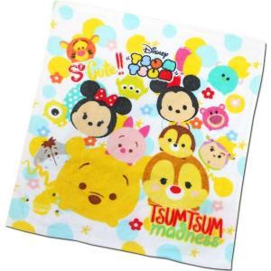 選べる3P¥555対象商品/ハンドタオル CMHT-02 Disney ディズニー ツムツム tsumtsum ドット キャラクター コットン 綿 洗面所 洗顔 手洗い 汗|pas-a-pas