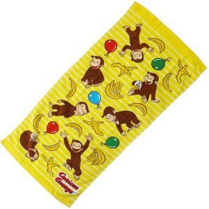 ◆選べる3P¥1,110対象商品◆丸眞 4765008400 フェイスタオル おさるのジョージ 34×75cm バナナ大好きジョージ|pas-a-pas