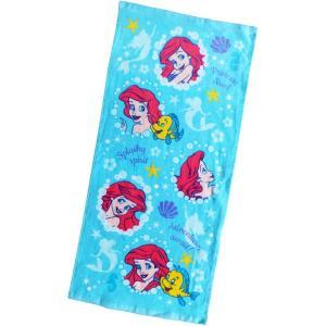 選べる3P¥1,110対象商品/ディズニー アリエル フェイスタオル FJ410500 Disney キャラクター 綿 コットン cotton 洗面所 汗 レジャー|pas-a-pas