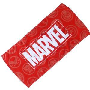◆選べる3P¥1,110対象商品◆丸眞 2505029300 フェイスタオル Marvel マーベル ロゴ 34×75cm ロゴアンドアイコン|pas-a-pas