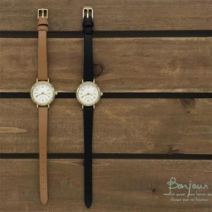【ネコポス便発送可】ST246-2-4 腕時計 アナログ プリュイ小 防水 革ベルト 白 文字盤 レディース ウォッチ 女の子 フィールドワーク Field work 腕時計 pas-a-pas
