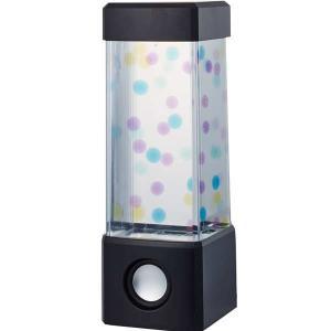 18148/イシグロ/[AQUA LAMP]ミニアクアランプ(スピーカー付き/ブラック)/インテリア/スマートフォン/音楽/玩具/TOY/ギフト/プレゼント pas-a-pas