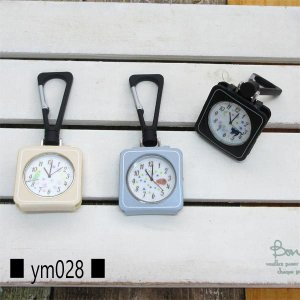YM028 フィールドワーク カラビナウォッチ TOKOT 丸 置き掛け時計 蓄光 白 文字盤 プレゼント レディース pas-a-pas