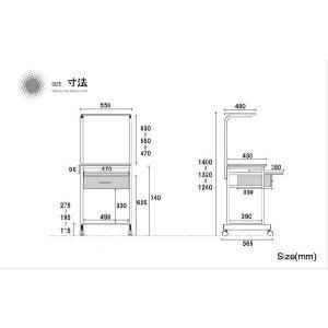 パソコンデスク/学習デスク/引き出し/5011|pascal-japan|02