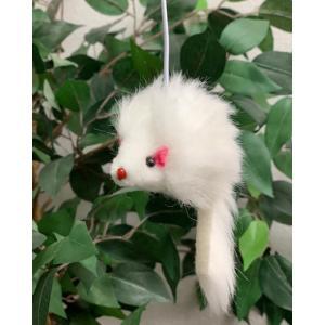 ネズミ君のおもちゃ 1個(猫ちゃん用)【ゴムヒモ 約10cm】キャットタワー部品 (メール便送料 378-)|pascal-japan
