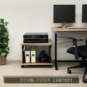 プリンター台,PJC-7203 プリンターワゴン・サイドワゴン・上下昇降式デスクに対応 PJC-7203-WD 【上下昇降 45〜70cm】【お客様による組み立て式です】|pascal-japan|08